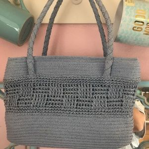 Handbags - Blue Wicker/Straw Purse Perfect for Summer! NWOT